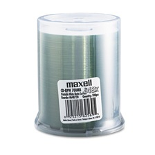 Maxell® CD-R Discs, 700MB/80 min, 48x, Spindle, Printable Matte White, 100/Pack