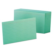 Oxford™ Ruled Index Cards, 4 x 6, Green, 100/Pack