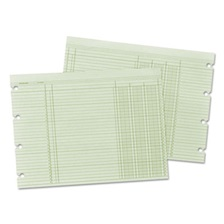 Wilson Jones® Accounting Sheets, Three Column, 9-1/4 x 11-7/8 , 100 Loose Sheets/Pack, Green