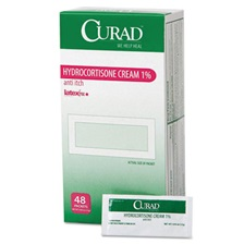 Curad® Hydrocortisone Cream, 0.007 oz Foil Packet, 48/Box