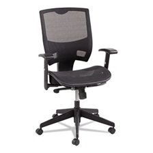 Alera® Alera Epoch Series All Mesh Multifunction Mid-Back Chair, Black