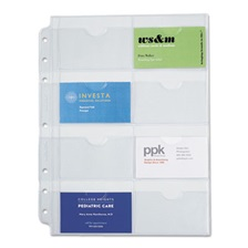 Day-Timer® Business Card Holders for Looseleaf Planners, 8 1/2 x 11, 5/Pack