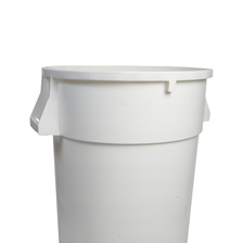 44 Gal. Round Garbage Container White