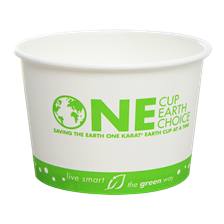 16 oz Eco-Friendly Paper Cold/Hot Food Container (Karat Earth, Stock Print_114.6mm)