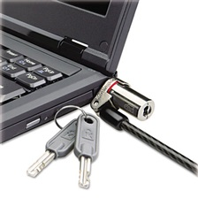 Kensington® Microsaver DS Ultra-Thin Laptop Lock, Silver, Two Keys