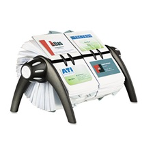 Durable® VISIFIX Duo Rotary Business/Address File Holds 800 4 1/8 x 2 7/8 Cards, Black