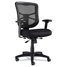 Alera® Alera Elusion Series Mesh Mid-Back Swivel/Tilt Chair, Black
