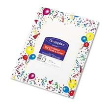 Geographics® Design Suite Paper, 24 lbs., Party, 8 1/2 x 11, White, 100/Pack