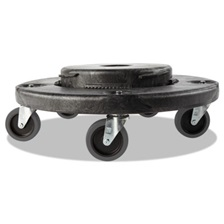 Rubbermaid® Commercial Brute Quiet Dolly, 250lb Capacity, 18 1/4 dia. x 6 5/8h, Black