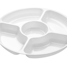 Platter Pleasers 12'' 5 Compartment Tray - 3506-WH