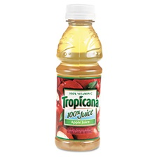Tropicana® 100% Juice, Apple, 10oz Bottle, 24/Carton