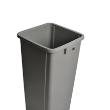 25 Gal. Square Garbage Can Grey
