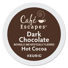 Café Escapes® Dark Chocolate Hot Cocoa K-Cups, 24/Box, 4 Box/Carton