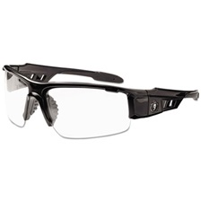 ergodyne® Skullerz Dagr Safety Glasses, Black Frame/Clear Lens, Nylon/Polycarb