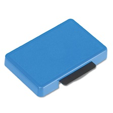 Identity Group T5440 Dater Replacement Ink Pad, 1 1/8 x 2, Blue
