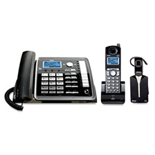 RCA® ViSYS 25270RE3 Two-Line Corded/Cordless Phone System with Cordless Headset