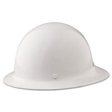 MSA Skullgard Protective Hard Hats, Ratchet Suspension, Size 6 1/2 - 8, White