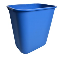 25 Qt. Rectangular Garbage Can Blue