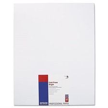 Epson® Cold Press Bright Fine Art Paper, 17 x 22, Bright White, 25 Sheets