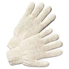 Anchor Brand® String Knit Gloves, Large, Natural White, 12 Pairs