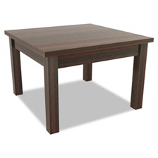 Alera® Alera Valencia Series Occasional Table, Square,23-5/8 x 23-5/8 x 20-3/8,Mahogany