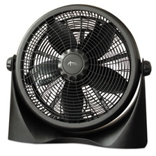 "Alera® 16"" Super-Circulation 3-Speed Tilt Fan, Plastic, Black"