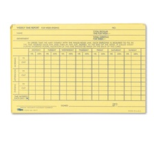 TOPS™ Employee Time Report Card, Weekly, 6 x 4, 100/Pack