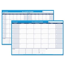 AT-A-GLANCE® 30/60-Day Undated Horizontal Erasable Wall Planner, 48 x 32, White/Blue,