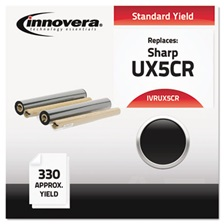 Innovera® Compatible UX5CR Thermal Transfer Print Cartridge, Black