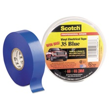 "3M™ Scotch 35 Vinyl Electrical Color Coding Tape, 3/4"" x 66ft, Blue"