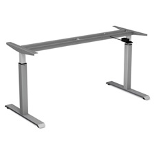 "Alera® AdaptivErgo Pneumatic Height-Adjustable Table Base, 26 1/4"" to 39 3/8"", Gray"