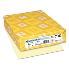 Neenah Paper CLASSIC CREST Writing Paper, 24lb, 8 1/2 x 11, Baronial Ivory, 500 Sheets