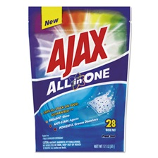 Ajax® All in One Automatic Dish Detergent Pacs, Fresh Scent, 28/Pack