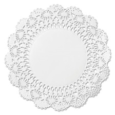 "Hoffmaster® Cambridge Lace Doilies, Round, 12"", White, 1000/Carton"