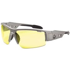 ergodyne® Skullerz Dagr Safety Glasses, Matte Gray Frame/Yellow Lens, Nylon/Polycarb