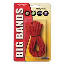Alliance® Big Bands Rubber Bands, 7 x 1/8, Red, 12/Pack