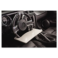 AutoExec® Automobile Steering Wheel Attachable Work Surface, Gray