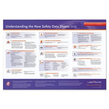 LabelMaster® GHS Training Poster for SDS, 28 x 20, White/Blue/Red