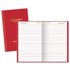 AT-A-GLANCE® Standard Diary Recycled Daily Reminder, Red, 4 1/8 x 6 5/8, 2017