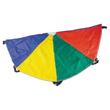 Champion Sports Nylon Multicolor Parachute, 6ft diameter, 8 Handles