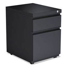 Alera® 2-Drawer Metal Pedestal Box File w/Full Length Pull, 14 7/8w x 19 1/8d, Charcoal