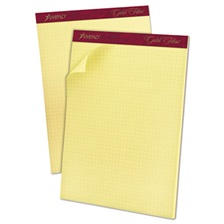 Ampad® Gold Fibre Canary Quadrille Pad, 8 1/2 x 11 3/4, Canary, 50 Sheets