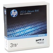 "HP 1/2"" Ultrium LTO-5 Cartridge, 2775ft, 1.5TB Native/3TB Compressed Capacity"