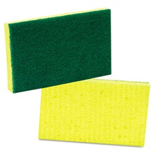Scotch-Brite™ PROFESSIONAL Medium-Duty Scrubbing Sponge, 3 1/2 x 6 1/4, Yellow/Green, 20/Carton