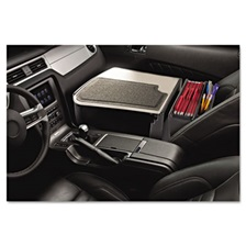 AutoExec® GripMaster 02 Efficiency Auto Desk w/ Writing Surface & Supply Organizer, Gray