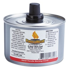 FancyHeat® Chafing Fuel Can, Stem Wick, 4-6hr Burn, 8oz, 24/Carton