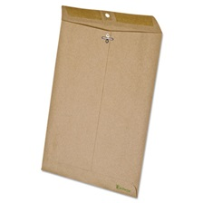 Ampad® Earthwise by Ampad 100% Recycled Paper Clasp Envelope, 9 x 12, Brown, 110/Box
