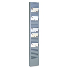 "SteelMaster® 40-Pocket Steel Swipe Card/Badge Rack, 2-15/16"" x 18-11/16"""