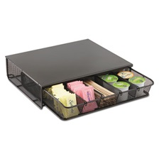 Safco® One Drawer Hospitality Organizer, 5 Compartments, 12 1/2 x 11 1/4 x 3 1/4, Bk