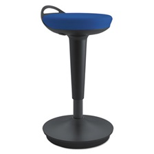 Alera® AdaptivErgo Balance Perch Stool, Blue with Black Base